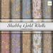 Shabby Gold Wall 10 Seamless Textures Builders Kit NM