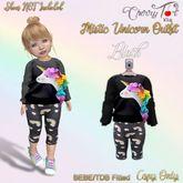 *Cherry Tot* BEBE/TDB Mistic UnicornOutfit Black(Wear & Click)