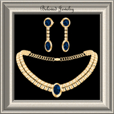 Beloved Jewelry : Gem Set in Gold with Sapphires, Earrings and Necklace