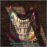 DD Just Be Happy Wall Rug Boxed