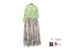 {amiable}Mesh Loose Cardigan with Flower Tulle Skirt05