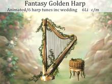LOVE - FANTASY GOLDEN HARP - ADD ME