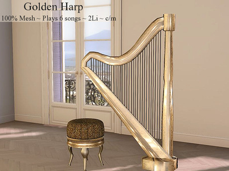 LOVE - GOLDEN HARP WITH MUSIC