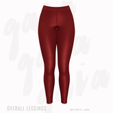 Gaia - Overall Leggings RED