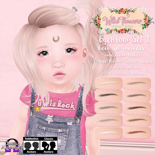 {WF} Eyebrows  Set 1 [BOX]