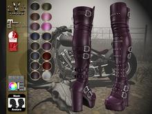 V-Twins Biker Boots - Moonshine Fat Pack (16 colors HUD System) Maitreya - SLInk