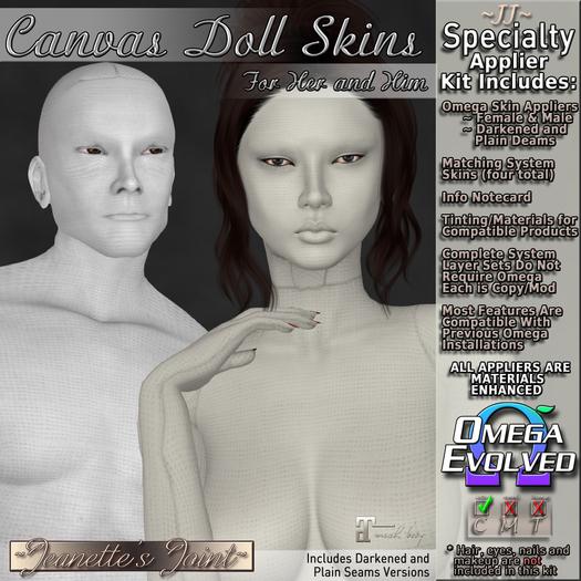~JJ~ Canvas Doll Skins
