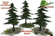 Lady's Garden - Set of pines 8 prim