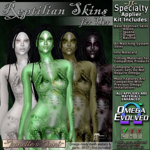 ~JJ~ Reptilian Female Skins