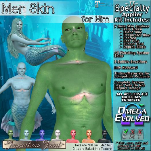 ~JJ~ Male Mer Skins