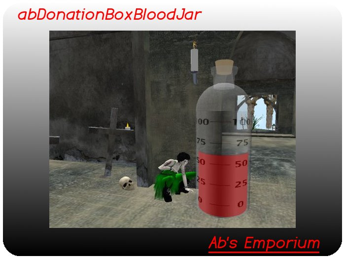Donation Box (Transfer) - Blood tip jar, sim wide networked, percent thermometer, halloween vampire gothic