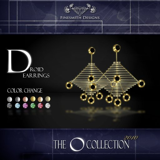 F I N E S M I T H - Ocollection Droid earrings color set