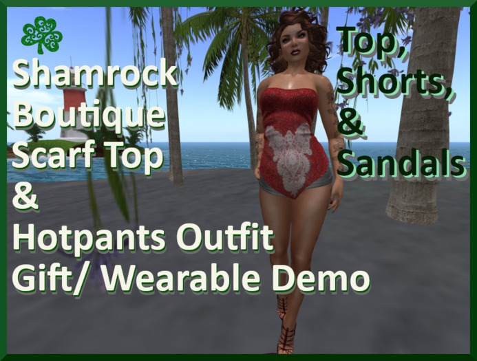 =<SB>=Scarf Top  and shorts outfit gift