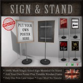 Sign / Notice Board & Stand