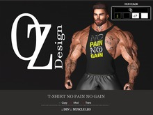 Oz Design : T-shirt No Pain No Gain