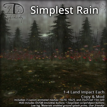 [DDD] Simplest Rain Set - Easy Animated Mesh Rain System