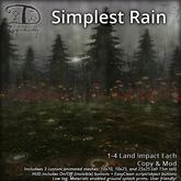 [DDD] Simplest Rain Set - Easy Animated Mesh Rain System