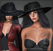 Meva Adina Hat Black