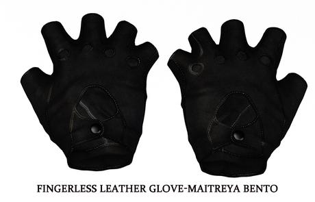 Fingerless Leather Glove-Maitreya BENTO