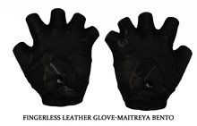Fingerless Leather Glove-Maitreya BENTO