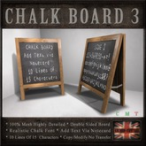 Double Sided A- Frame Chalk Message Board