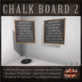 Message / Notice Chalk Board with Stand