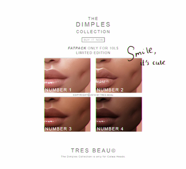 TRES BEAU MAKEUP THE DIMPLES COLLECTION
