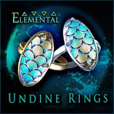 -Elemental- 'Undine Rings'  10L only!
