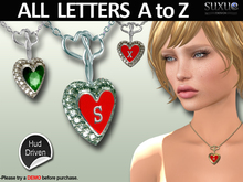 [SuXue Mesh] FATPACK Arya Necklace Engraving A to Z, With Hud Gems Gold Silver, 1 Necklace with various options, Resize