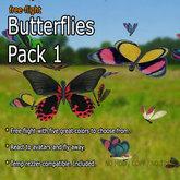 Butterflies - Pack 1 (Free-Flight)