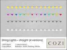 *COZI* Mesh String Lights - 14 bulbs
