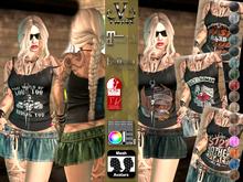 V-Twins- Biker Clothes - True-Born Biker Version **MESH Outfit [Mesh Bodies Compatible] Maitreya Slink Belleza