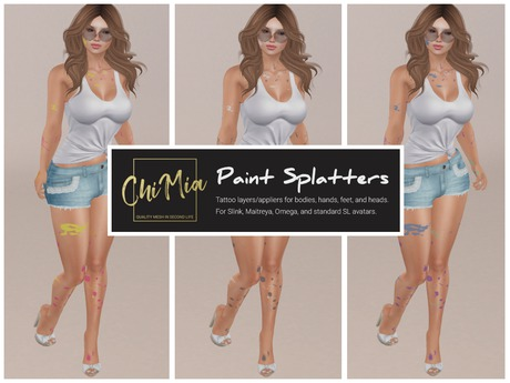 ChiMia:: Body Paint Splatters DEMO