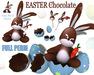 [ FULL PERM ] EASTER Chocolate  Eggshell Bunny