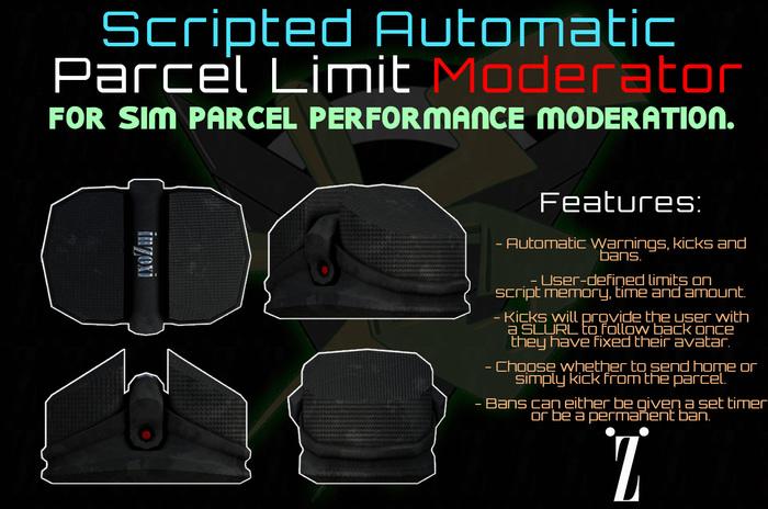 [inZoxi] - Parcel Script Limit Moderator [updated]