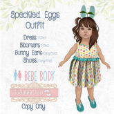 TPT - Speckled Eggs - Toddleedoo Baby and Bebe Easter outfit