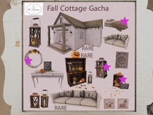 .:Bee designs:. Fall Cottage Gacha Bed and others