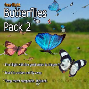 Butterflies - Pack 2 (Free-Flight)