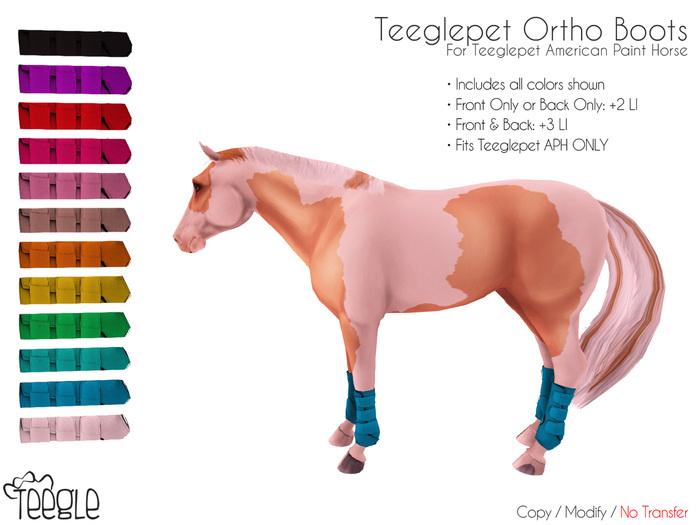 [Teegle] Ortho Boots for Teeglepet American Paint Horse