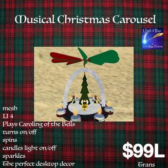 Musical Christmas Carousel Caroling of the Bells(Bag)