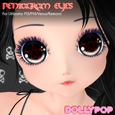 ~Dollypop~ Pentagram Eyes for Kemono/M3/M4/Venus/Chibi/Mars Box