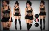 [DB] One Shoulder Mini - Goth Black Maitreya Slink Belleza