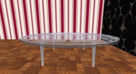 Second Life Marketplace Gp Etched Glass Dining Table 2 Oval