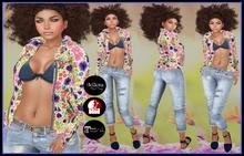 [DB] Spring Pants and Jacket - Flower Design - Mairteya Slink Belleza