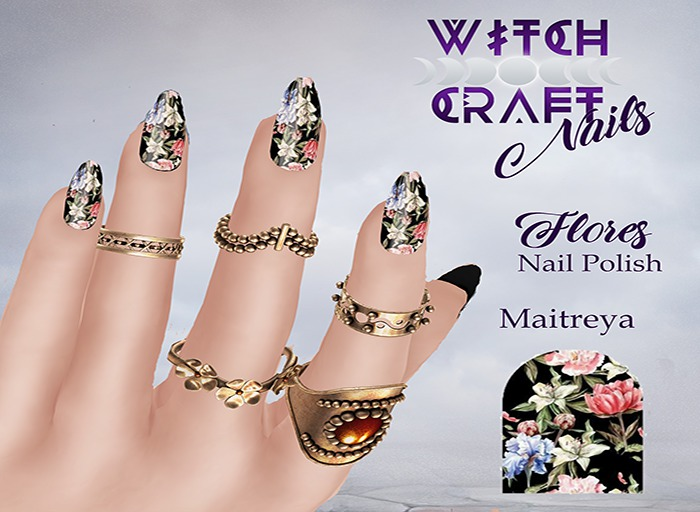 [WitchCraft] Flores Nail Polish * GIFT *