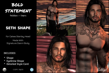 Second Life Marketplace Seth Male Shape By Bold Statement