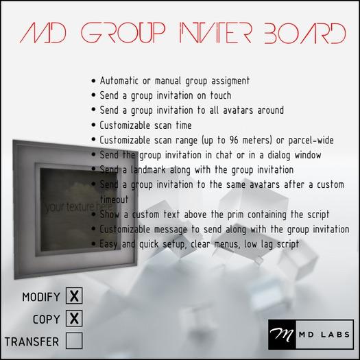 MD Group Inviter Board