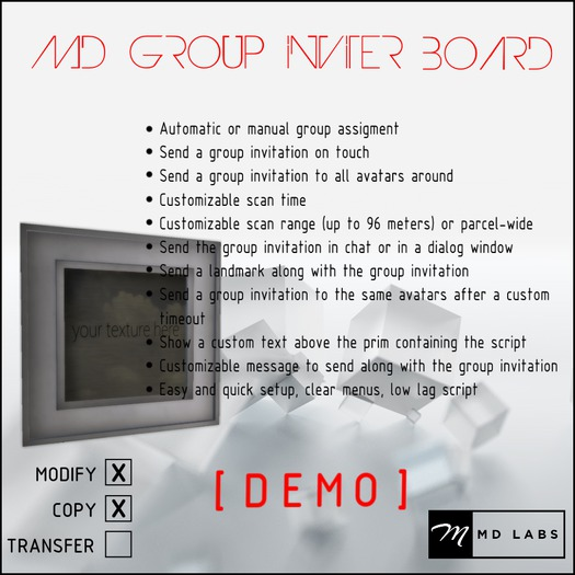 MD Group Inviter Board DEMO