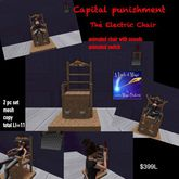 Capital punishment The Electric Chair set-Crate