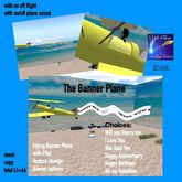 The Flying Banner Plane with texture change messgaes-crate